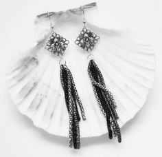 Long Silver Dangle Earrings  Antique Silver  by MyGemstoneDesigns, $30.00 #onfireteam #lacwe #handmade #earrings #accessories #jewelry