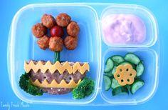 Fun flower school lunch box - FamilyFreshMeals.com