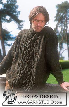 DROPS Men's sweater - free pattern