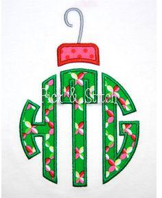 Ornament Top for Monogram Applique Design Machine Embroidery INSTANT DOWNLOAD