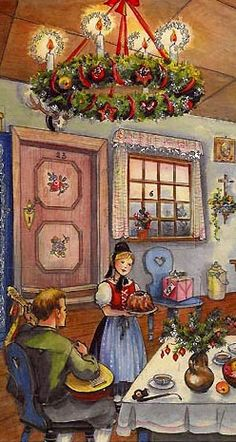 Swedish style advent calendar from Germany