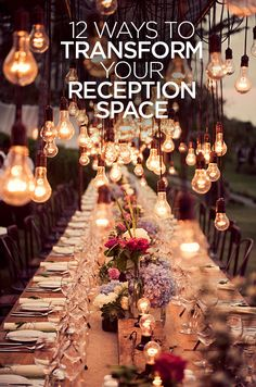 We've done countless weddings on every size budget, and as we tell every bride, it's the details that make all the difference. We're sharing our 12 favorite ways to transform a reception space:
