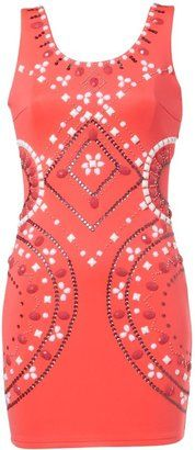 ShopStyle: Lipsy Tribal Beaded Vest Dress