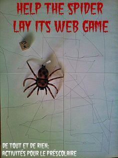 Everything and nothing: Activities for Preschool: Help the spider weaving its web!