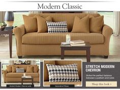 Stretch Modern Chevron For Fall 2014 | Sure Fit Slipcovers