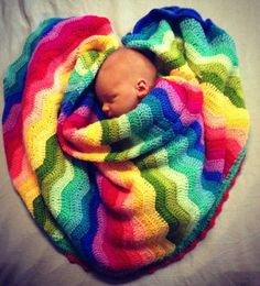 Beautiful crocheted baby Ripple Blankets