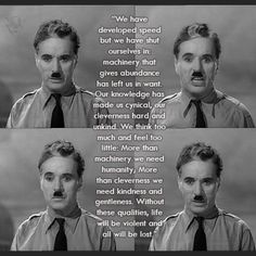 Charlie Chaplin in The Great Dictator - best speech EVER.