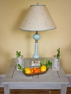 Side Table in Blog Cabin's Sunroom