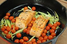 ... roasted Fillet of Wild Salmon with Roasted Cherry Tomatoes and Fennel