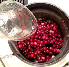 Make your own cranberry sauce! It's ALMOST as easy as opening a can! :-)