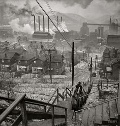 Long Stairway, Mill District, Pittsburgh, by Jack Delano 1940