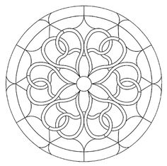 Mandala 593, Mandala Stained Glass Pattern Book, Dover Publications