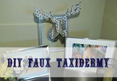 DIY faux taxidermy