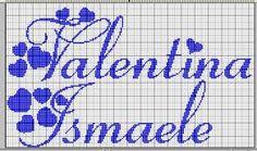 schema scritta punto croce Valentina - Cerca con Google