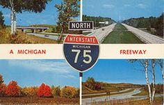 Michigan UpNorth I-75 Collectible Mackinaw Bridge in distance