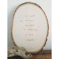 {diy | hand-stamped wood slice}