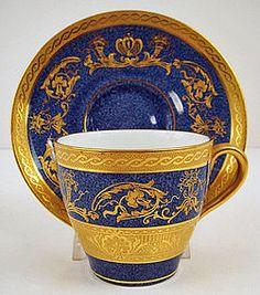 Antique Royal Doulton Demitasse Cup & Saucer