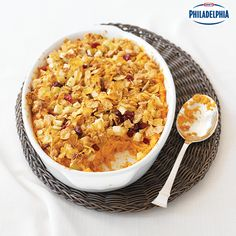 Instead of marshmallows, sweeten up your sweet potatoes with apples this year! Try this Oat-Topped Sweet Potato Crisp. The crumbly brown sugar topping will also add a nice twist to your classic recipe.