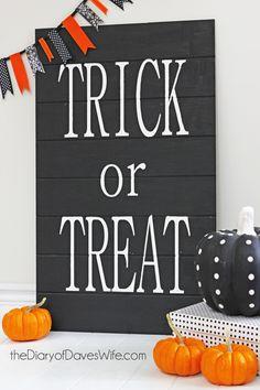 DIY Large Trick or Treat Sign