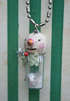 Tiny jar snowman