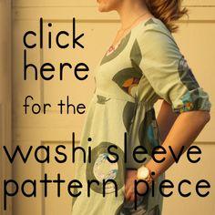 Tutorial + Pattern: Long Sleeve for Washi Dress