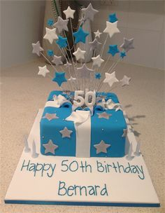 ... birthday parties 50th birthday cake blue 80th birthday birthday ideas