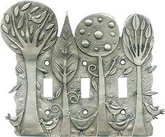 ENCHANTED FOREST Switch Plate - I love forests. Gives me nice ideas for future designs in clay.