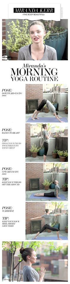Yoga mit Miranda Kerr. Will try this soon!