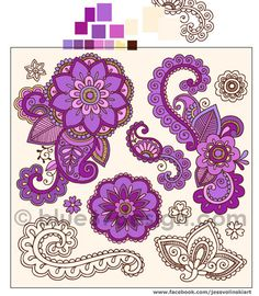 Colorful Henna Doodle by blue67design- Work in progress! | Flickr - Photo Sharing!
