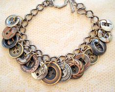 metal button bracelet