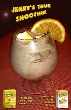 Chocolate Orange Mango Protein Smoothie