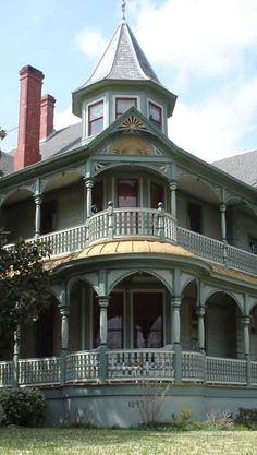 Victorian Painted Lady in Brenham, Texas: ART you can live in!! The house was built in 1897 according to the date on the foundation skirt.