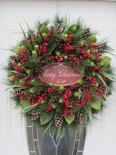 Christmas Door Wreath -