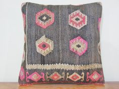 16Handwoven turkish pillow decorative throw pillow by KILIMDECOLIC, $20.90