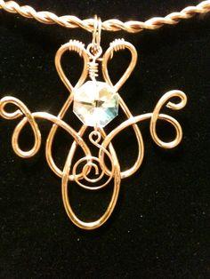 gold wire wrap pendant