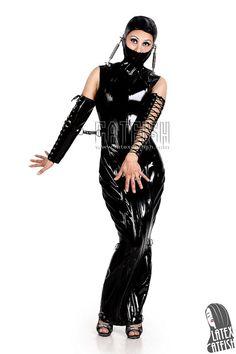 Sexy Lady's Long Bondage Dress/ Bondage Wear / Fetish Wear / Latex Dress