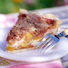 peach desserts, custard, midwest living, farmers market, food, peach recipes, peaches, pie, peach kuchen