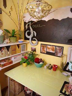 """""""Closet turned in to a small craft room / work space"""" #furniture #painting #craftroom #inspiration"""