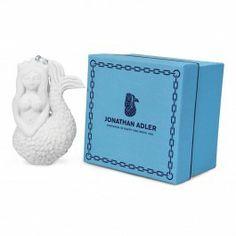 Jonathan Adler Mermaid Ornament, Unglazed Porcelain, O/S | DIG Designer Clothing & Homewares New York