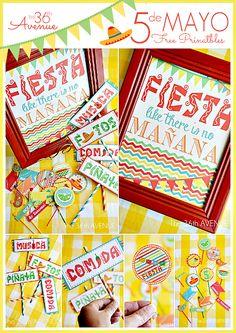 Cinco de Mayo Free Printable Party Kit