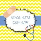 School Nurse binder for 2014-2015. Such a cute binder for the school nurse.   When the computer goes down (and we know they do), this binder will b...