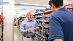 Elderly Rite Aid Patron Stretching Out Conversation About Toothpaste To Prolong Human Contact