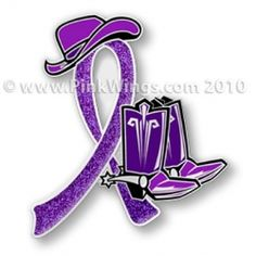 Purple Ribbon Cowgirl Pin reminds me of a dear friend