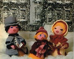Crochet Christmas Carolers