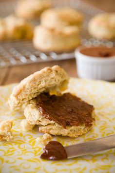 Coffee Buttermilk Biscuits with Dark Chocolate Cinnamon Butter - from Cupcake Project