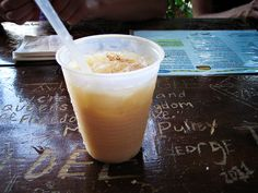 Drink of the Caribbean: The Painkiller Rum, pineapple juice, cream of coconut, orange juice, grated nutmeg
