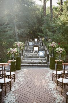 Love the mirrors and candles as ceremony backdrop. Venue: Rancho Las Lomas. Photography by braedonphotography.com, Wedding Coordination by lvlevents.com, Floral Design by whitelilacinc.com