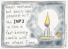 INFJ, a very good explanation Describing, Infj Cartoons, Personality Psychology, Introverts Infj, Burning Candles, Infj ...