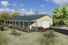 Barn house ideas on pinterest pole barn houses pole for Menards apartment garage plans