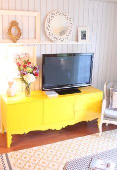 Yellow TV Stand - Ikea